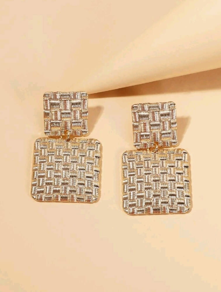 Naomi Geometric Drop Earrings