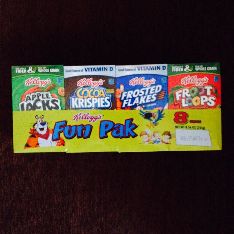 Kellogg's fun pack 8 cereal