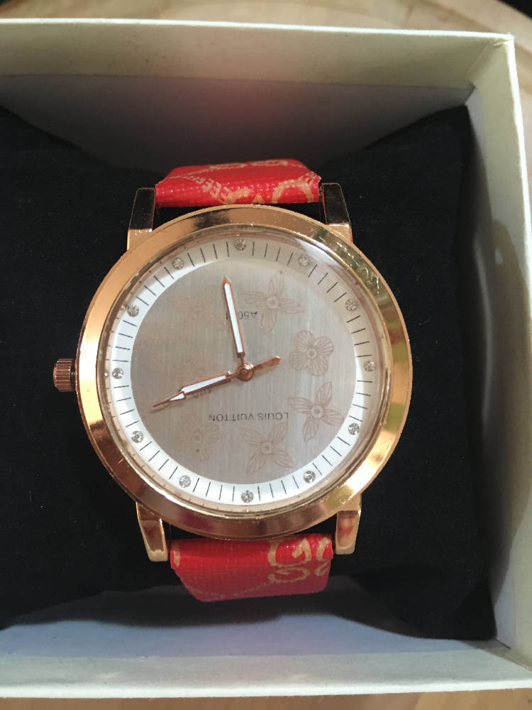 luis Vuitton watch red