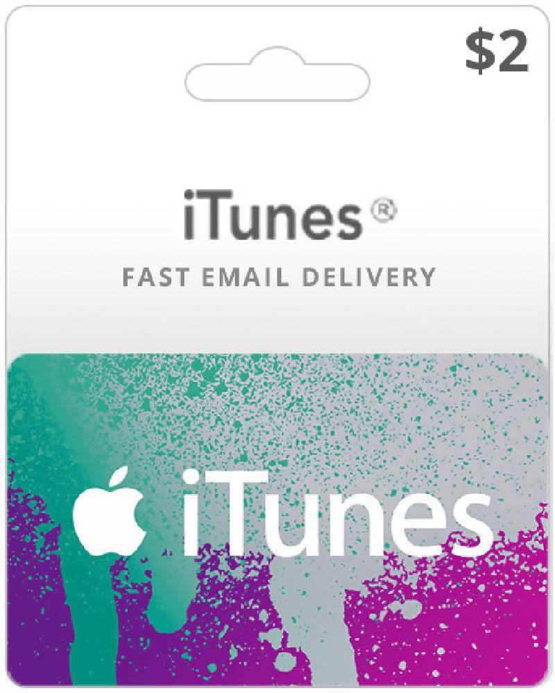$2 Itunes gift card