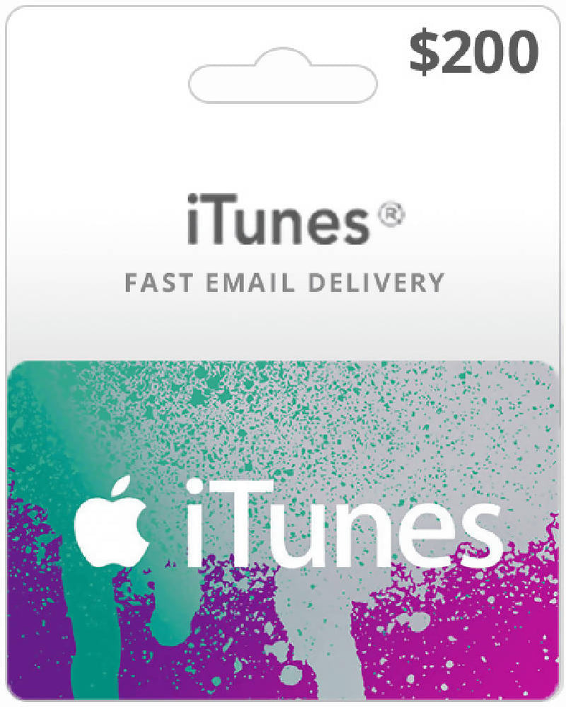 $200 Itunes gift card