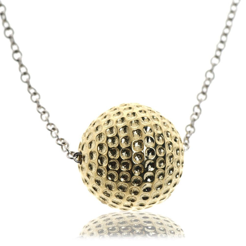 Golf ball necklace in 14kt gold aloadofball Choice Image