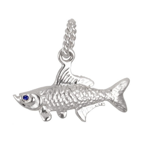 Tarpon fish pendant in sterling silver S