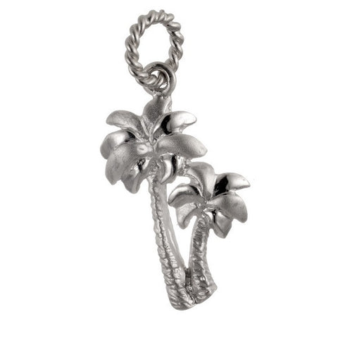 Palm tree pendant in sterling silver