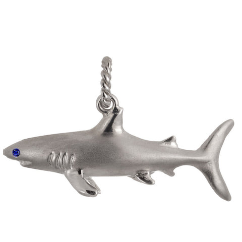 Shark pendant in sterling silver