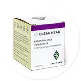 CLEAR HEAD TOWELETTES - PEPPERMINT & GERANIUM