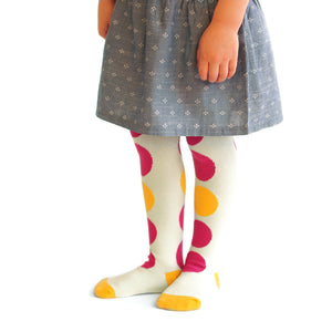 Pink Lemonade Dots Tights
