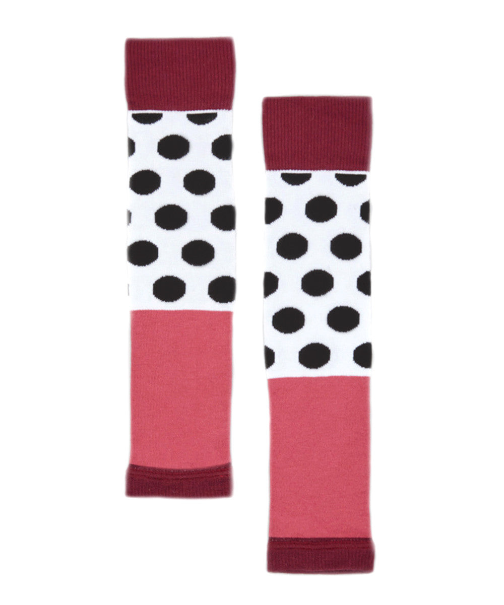 Black Dots Lollipop One Size Leg Warmers