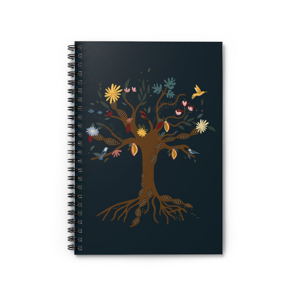 Venezuelan DNA Tree Spiral Notebook - Ruled Line