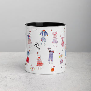 Via Paper Doll Mug with Color Inside
