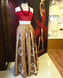 Majestic Gold and Red Lehnga