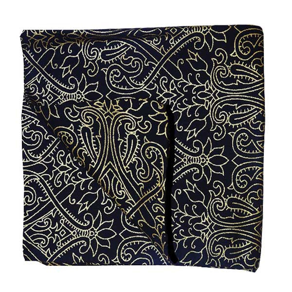 Black Gold Paisley Pocket Square