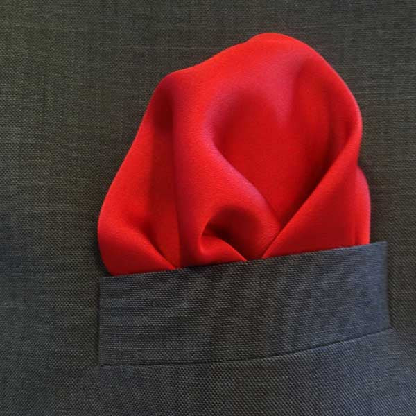 Blue/Red Floral Silk Pocket Square