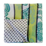 Apple Green Silk Pock Square