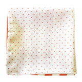 Orange Polka Dots Silk Pocket Square