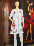 White Floral Gown by Anum Hassan