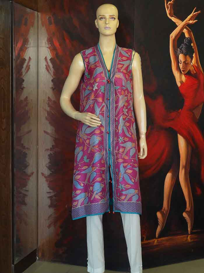 Purple Printed Shirt/Gown – LOUNGE 842
