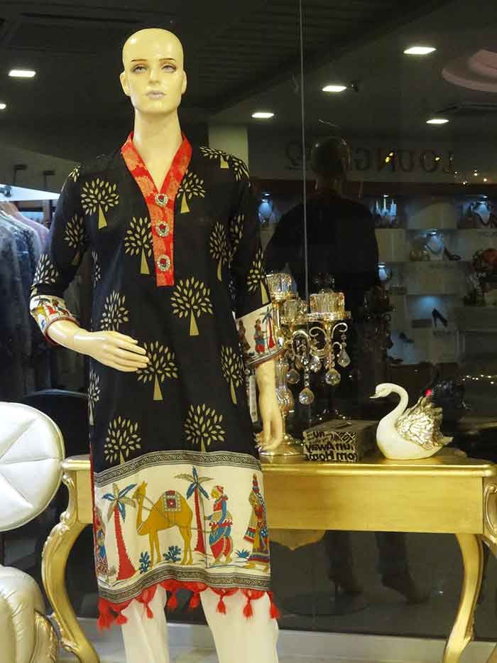 Paper Silk Shirt with Ancient Art by Daj Filigree by Zeb Khanzada