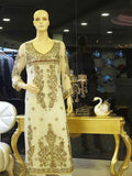Formal White Shirt with Golden Embellishments by Daj Filigree by Zeb Khanzada