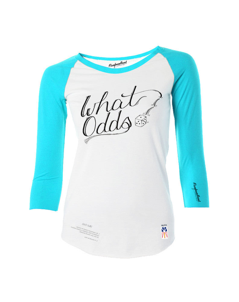 What Odds Women's Baseball T - Turquoise