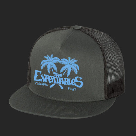 Palm Trucker Hat - Charcoal