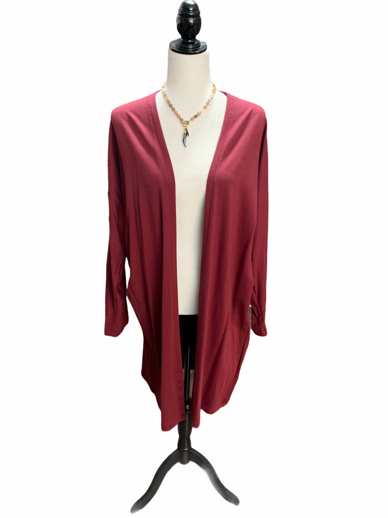 Wine - Cardigan - no pockets