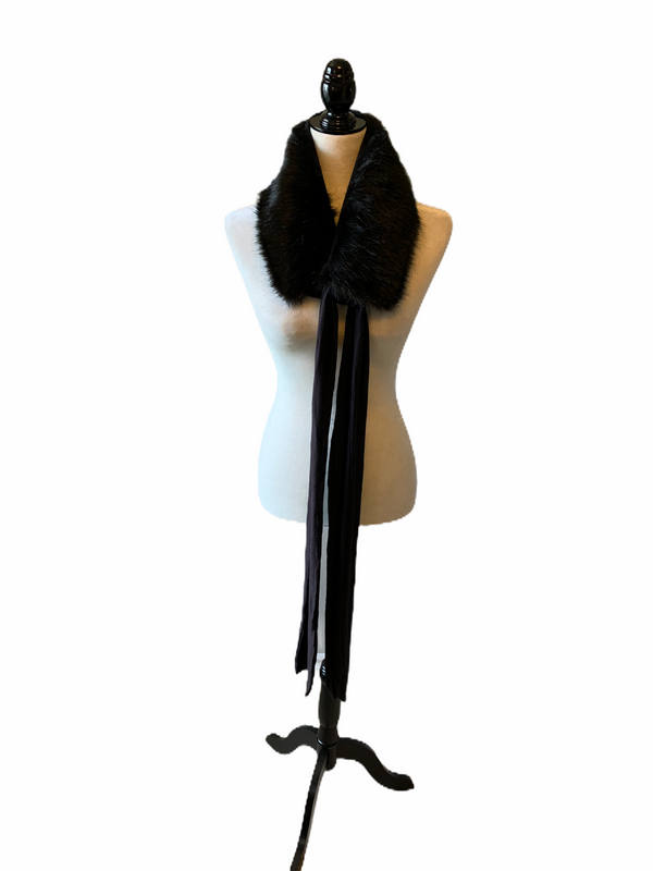 Faux Fur Scarf - Midnight