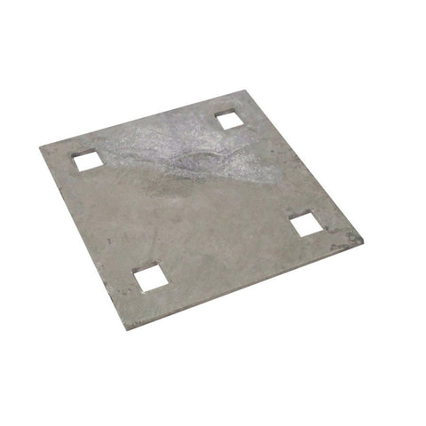 "Dock Edge Backer Plate, 7/16"" Punch, Galvanized 87-122-F - BoatNDock.com"