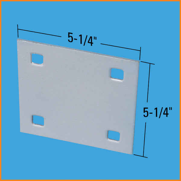 "Dock Edge Backer Plate, 7/16"" Punch, Galvanized 87-122-F"