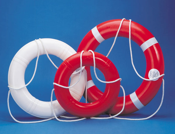 "Dock Edge Life Ring Buoy, 24"", CAD, 55-141-F/55-143-F - BoatNDock.com"