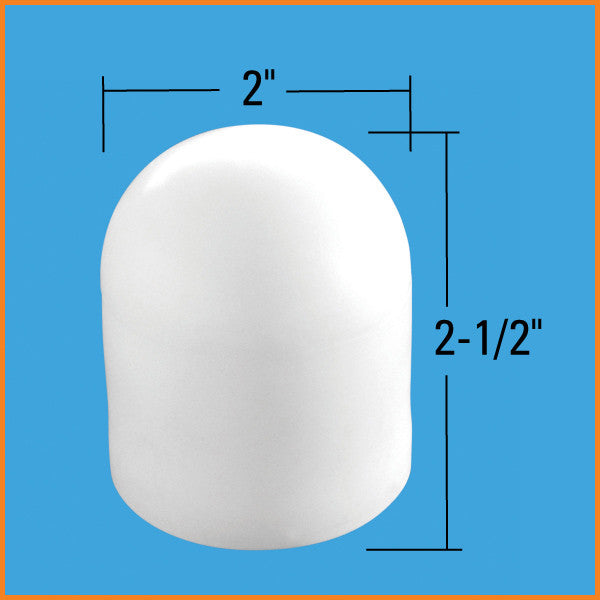 "Dock Edge Pipe/Leg Cap, 1 7/8"", PVC, Wht, (4Pcs/Bag) 91-111-F - BoatNDock.com"