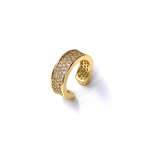Wide Pave Ear Cuff