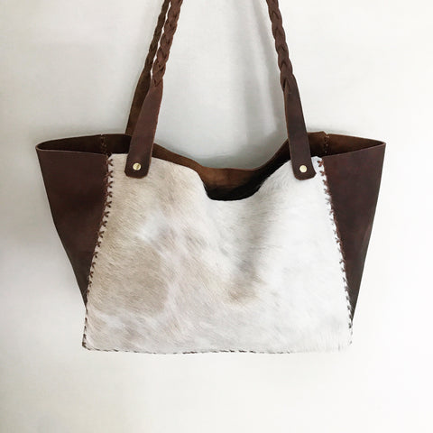 Cowhide + Saddle Leather Bag