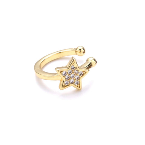 Pave Star Ear Cuff