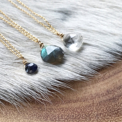 Make Your Own Gold + Gemstone Necklace
