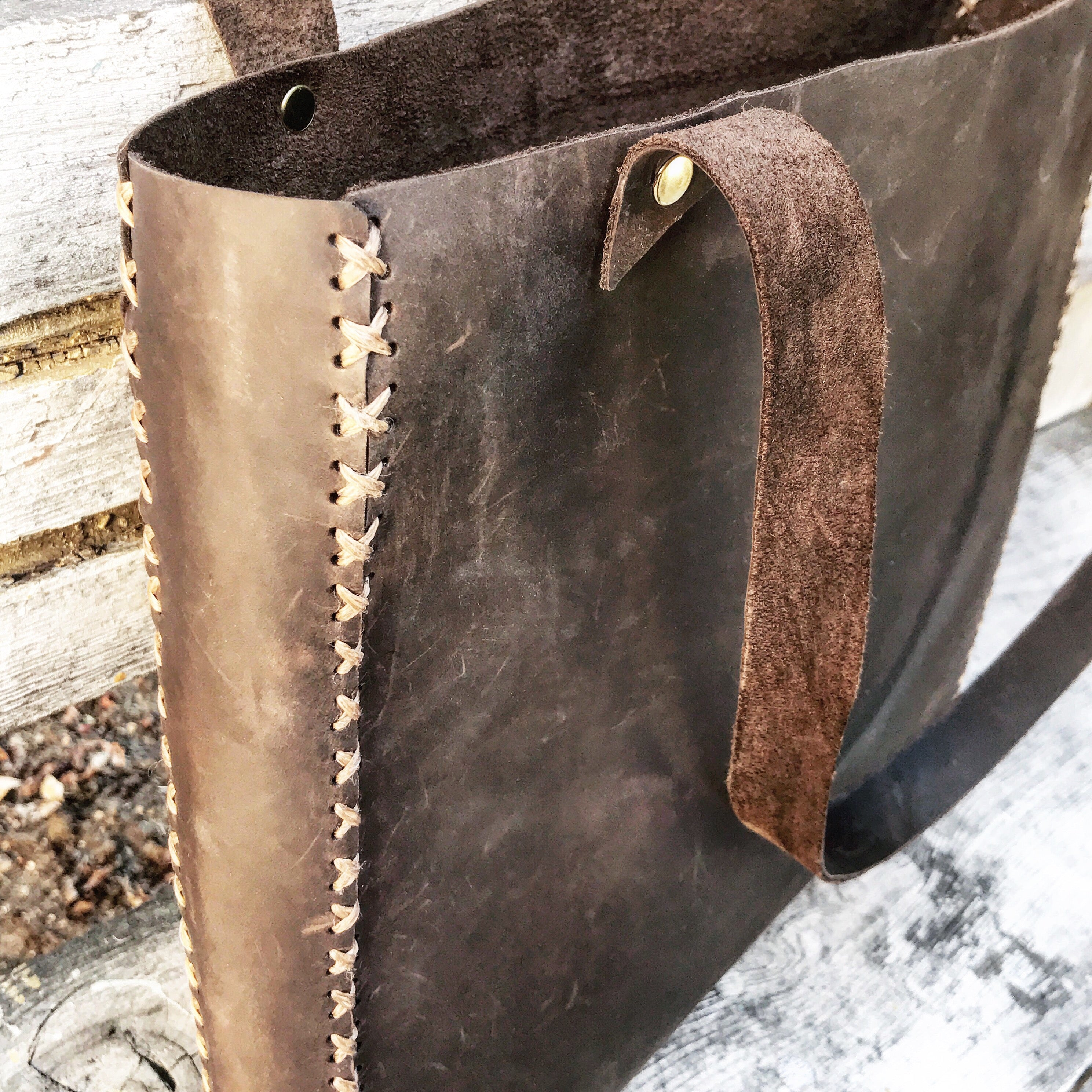 30473c65a7 Distressed Leather Tote – Amy DiGregorio