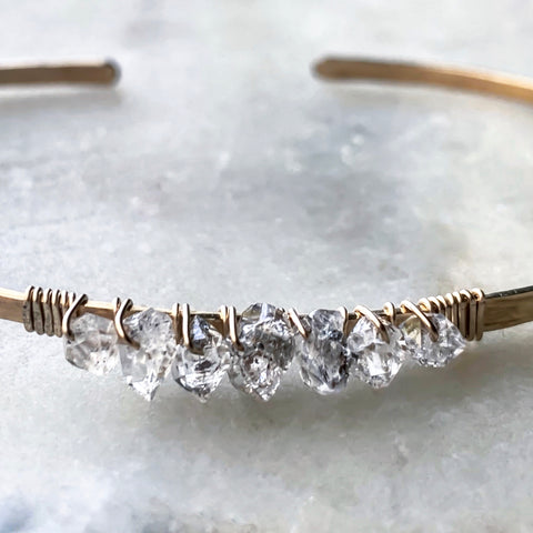Temple Place Herkimer Diamond Cuff