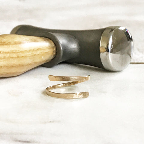 Make Your Own Hammered Gold Ring