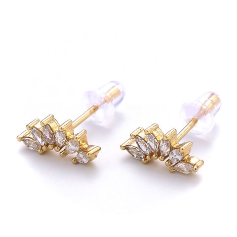 Pave Marquise Arch Studs