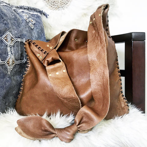 Distressed Whiskey Leather Sack