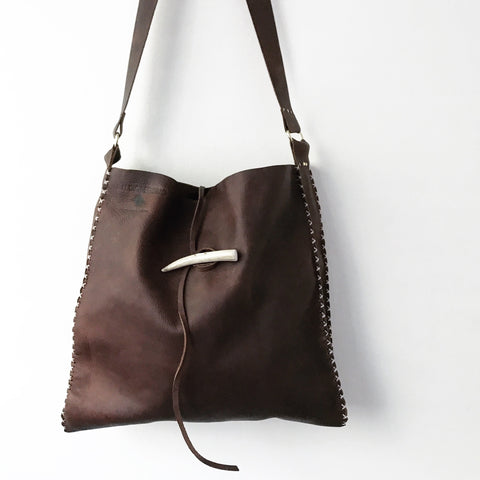Antler + Saddle Leather Crossbody