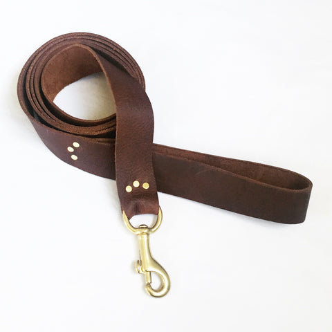 Saddle Leather Dog Leash