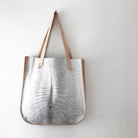 Cowhide + Veg Tan Leather Bag