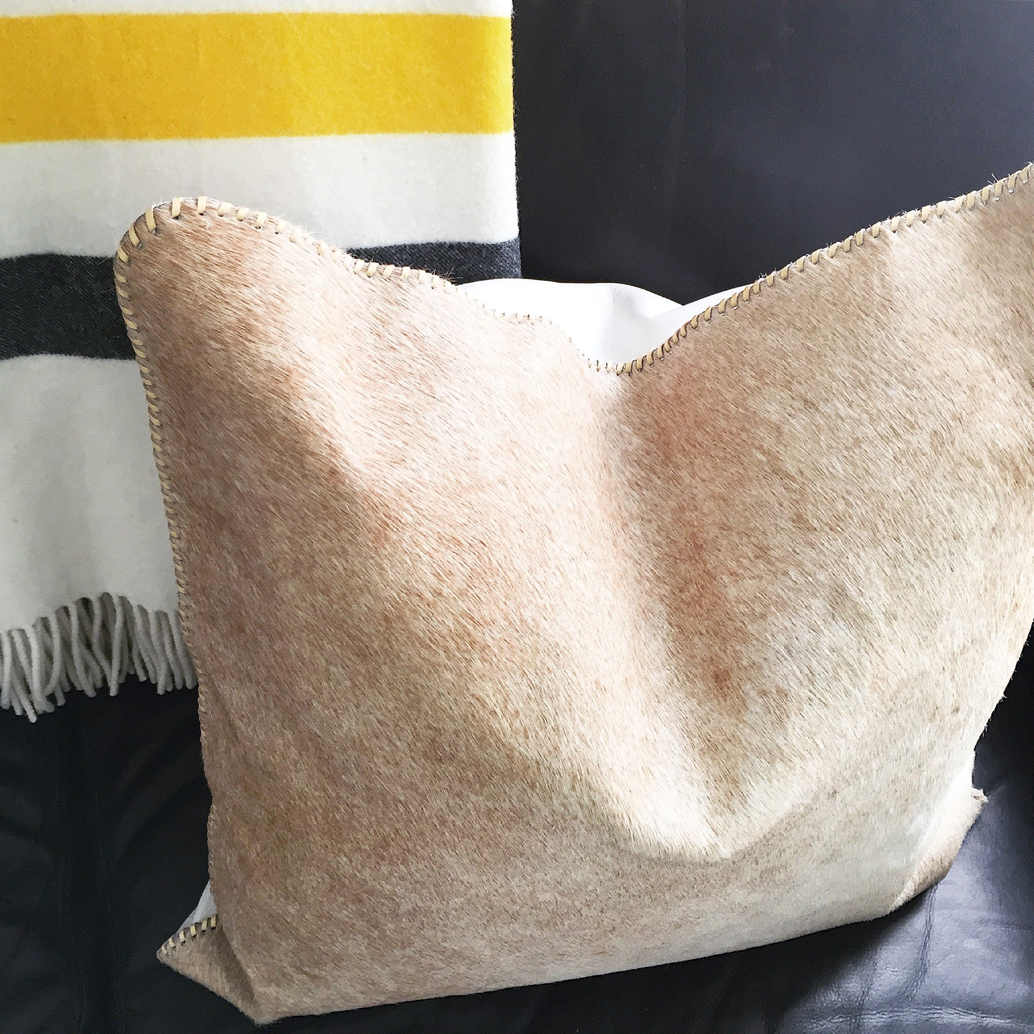 Cowhide + Lambskin Pillow