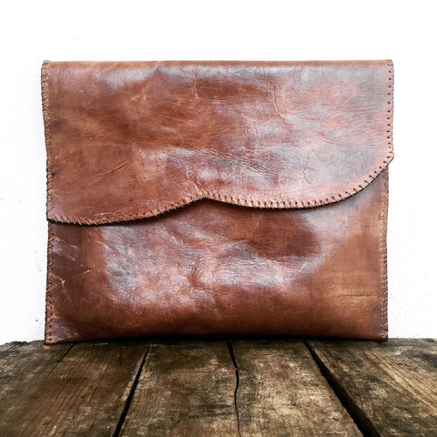 Leather Portfolio Clutch