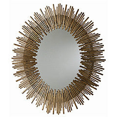 GOLD LEAF LARGE PRESCOTT OVAL MIRROR