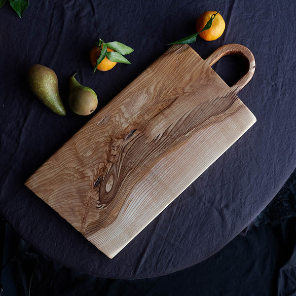 patterened olive ash serving board