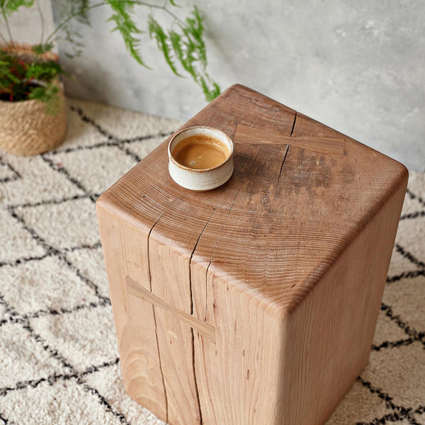 stump side tables