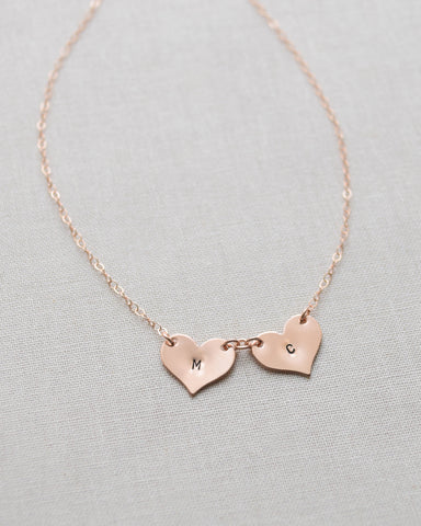 Multiple Heart Initials necklace