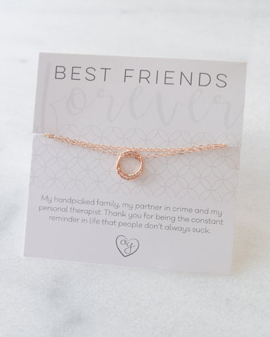 Rose Gold Best Friend Necklace